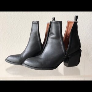 Jeffrey Campbell Orwell 2 Ankle Slit Boots Black 7